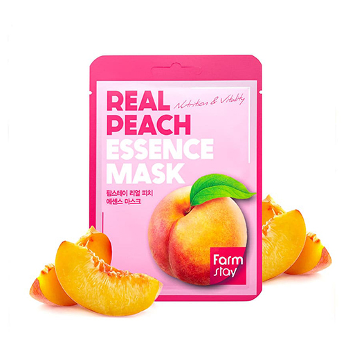 Тканевая маска для лица FarmStay с экстрактом персика Real Peach Essence Mask, 30 мл