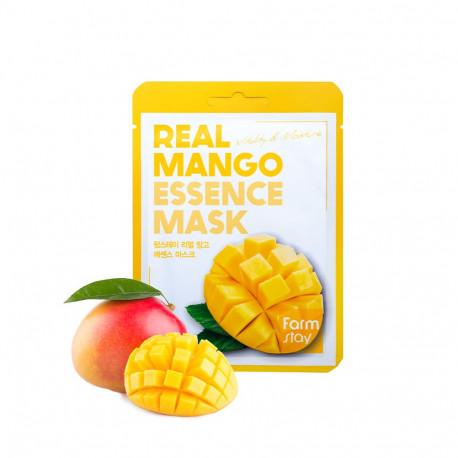 Тканевая маска для лица FarmStay с экстрактом манго Real Mango Essence Mask, 30 мл