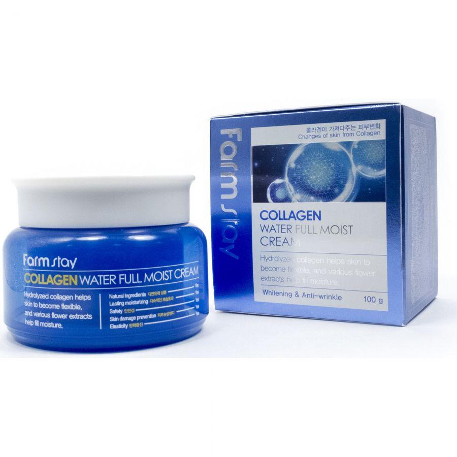 Увлажняющий крем для лица с коллагеном FarmStay Collagen Water Full Moist Cream 100 гр