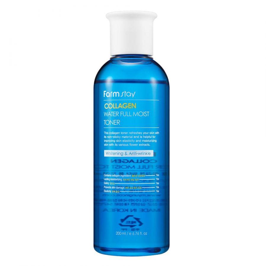 Увлажняющий тонер для лица с коллагеном FarmStay Collagen Water Full Moist Toner, 200 мл