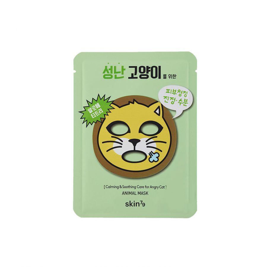"""Тканевая маска """"Кот"""" успокаивающая с экстрактом алоэ вера и чайного дерева Skin79 Animal Mask - Angry Cat"""