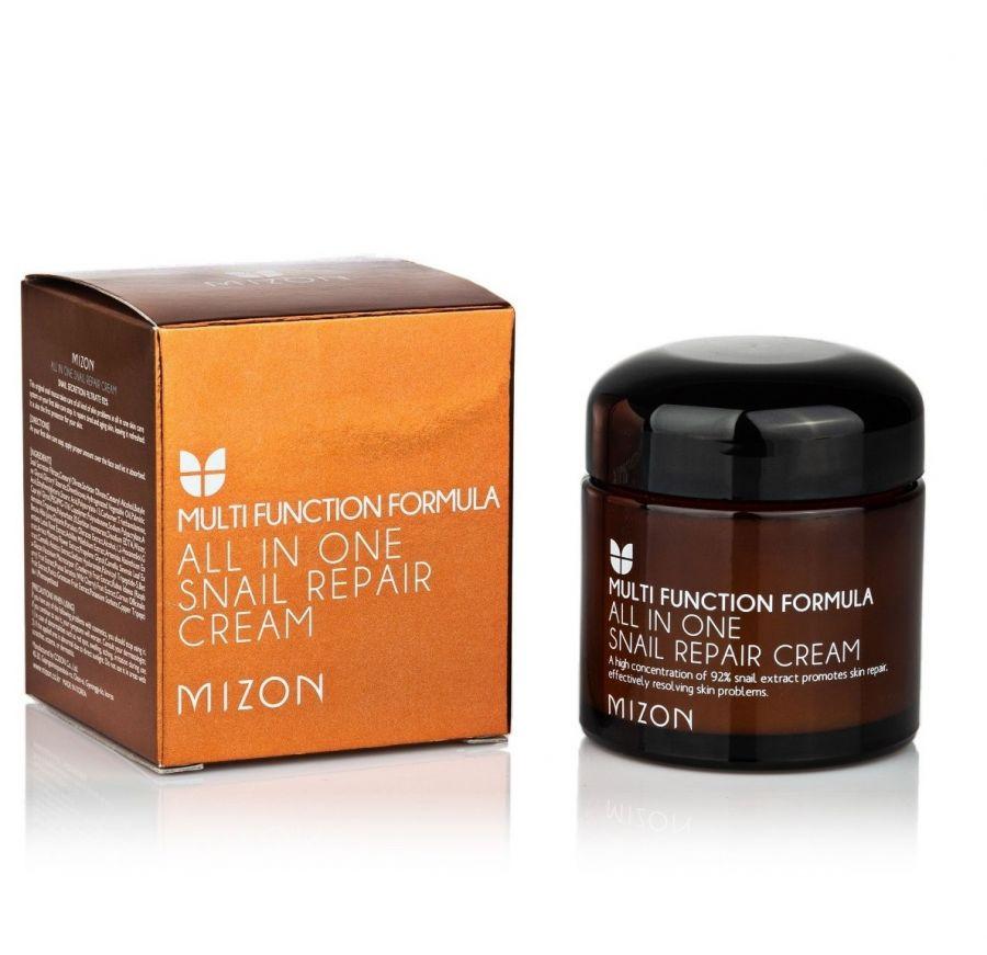 Восстанавливающий крем для лица с муцином улитки Mizon All In One Snail Repair Cream 75г