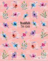 Слайдер-дизайн «Цветы» TM - 1049 Dream Nails (водные наклейки)
