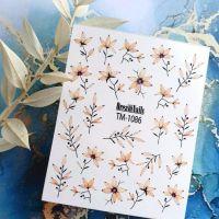 Слайдер-дизайн «Цветы» TM - 1086 Dream Nails (водные наклейки)