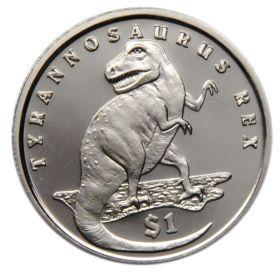 """Сьерра-Леоне 1 доллар (dollar) 2006 """"Динозавры - Тираннозавр Рекс"""""""