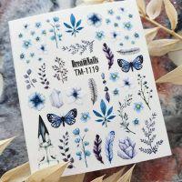 Слайдер-дизайн «Цветы» TM - 1119 Dream Nails (водные наклейки)