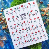 Слайдер-дизайн «Цветы» TM - 1134 Dream Nails (водные наклейки)