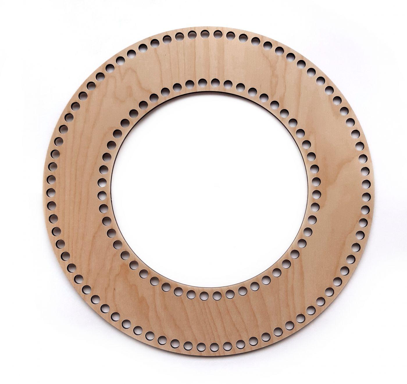 Венок кольцо фанера 30 см