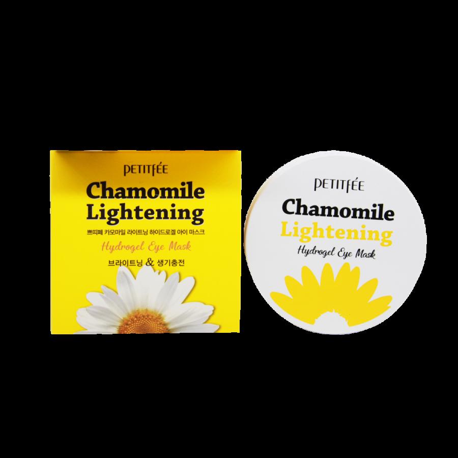 Гидрогелевые осветляющие патчи для глаз с экстрактом ромашки Petitfee Chamomile Lightening Hydrogel Eye Mask 60pcs