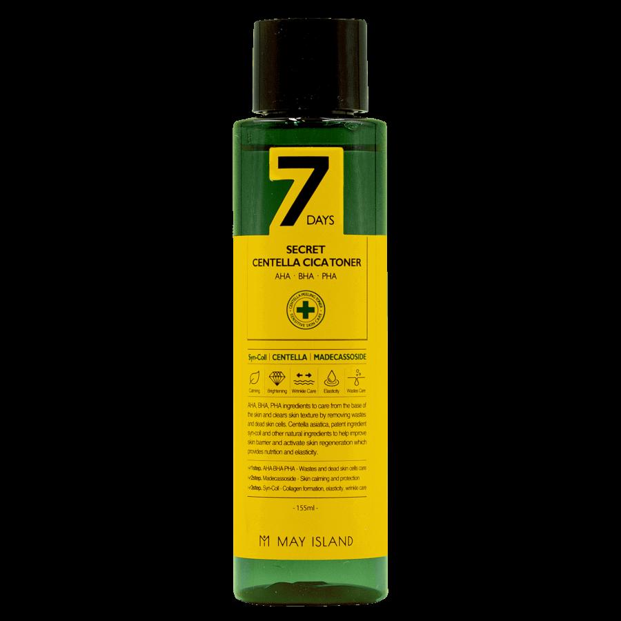 Обновляющий тонер для проблемной кожи 7days secret centella cica toner 155ml ХИТ