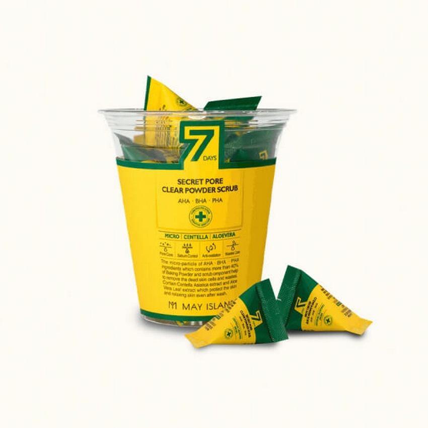Скраб для очищения пор с экстрактом алоэ и центеллой May Island 7days Secret Pore Clear Powder Scrub 5гр