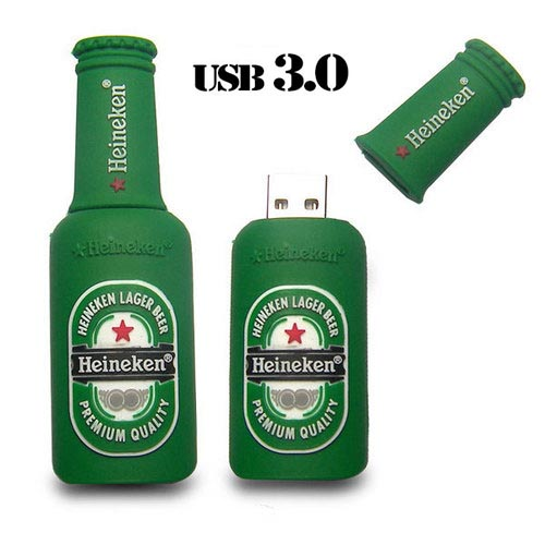 Орбита OT-MRF35 флэш USB 3.0 32Гб (Бутылка Haineken)