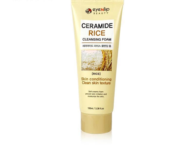 Пенка для умывания с экстрактом риса Eyenlip Ceramide Cleansing Foam - Rice 100ml