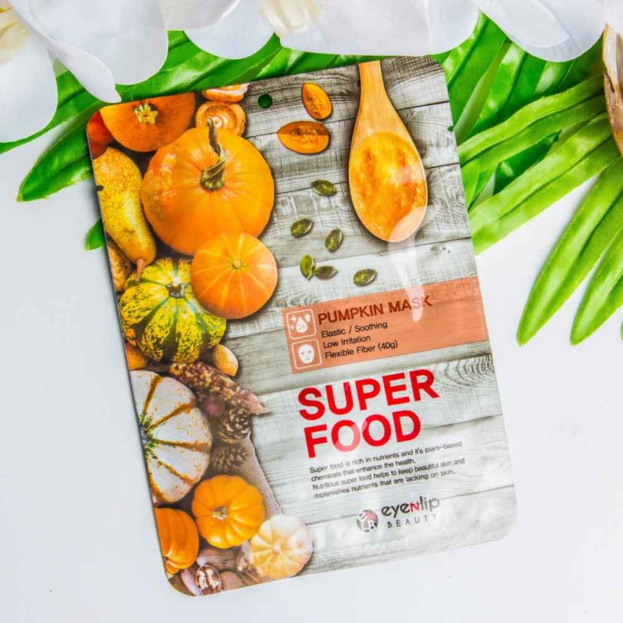 Тканевая маска с экстрактом тыквы Eyenlip Super Food Mask - Pumpkin
