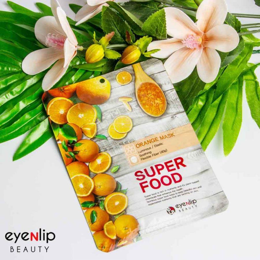 Тканевая маска с экстрактом апельсина Eyenlip Super Food Mask - Orange