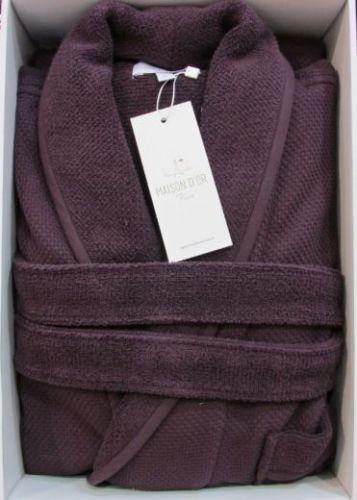 Мужской махровый халат Quattro баклажан