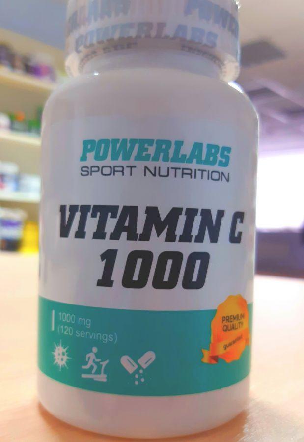 PowerLabs витамин С 1000 мг  120 капс