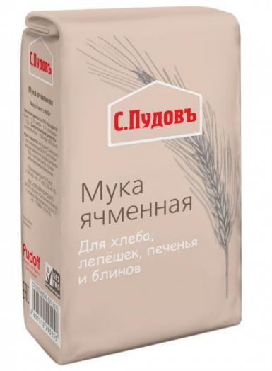 ПУДОВ Мука ячменная 400 г