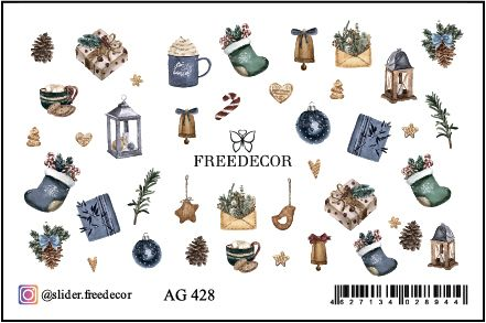 FREEDECOR Аэрография Слайдер дизайн Арт.AG-428