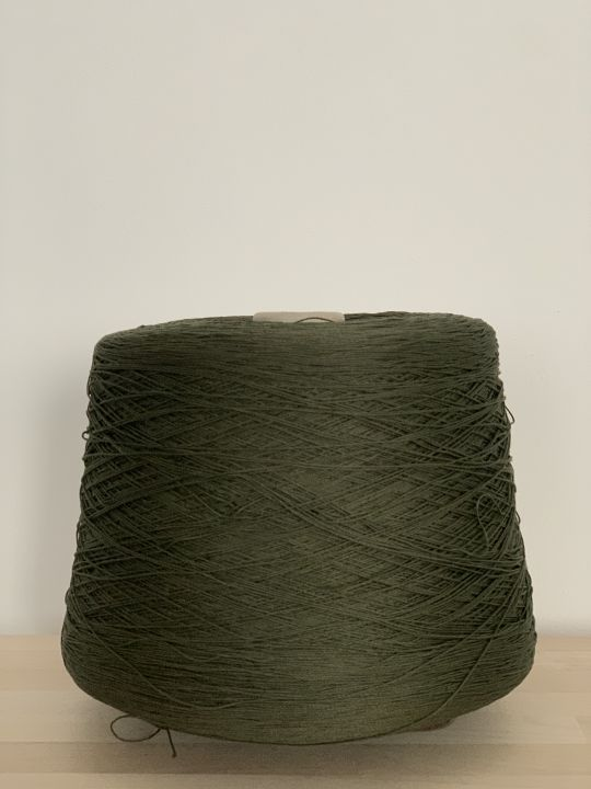 Хлопок шелковистый Manifattura Sessia Cable цвет темно-оливковый