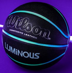 Баскетбольный мяч Wilson Luminous (светоотражающие каналы)