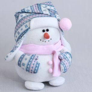 Набор для шитья текстильной игрушки Снеговичок сканди