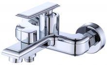 Смеситель для ванны с коротким изливом и душевым набором Savol S-600103T хром