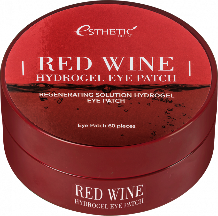 Гидрогелевые патчи для глаз КРАСНОЕ ВИНО Red Wine Hydrogel EyePatch, 60 шт