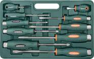 D70PP10S Набор отверток стержневых ударных, силовых под ключ, 10 предметов