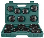 AI050004 Комплект чашек для съема масляных фильтров 65-100 мм, 15 предметов