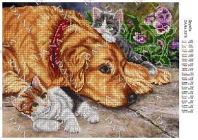 Dana DANA-3378 Дружба схема для вышивки бисером купить в магазине Золотая Игла