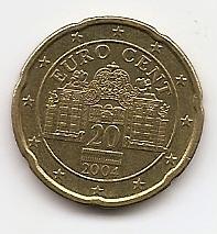 20 евроцентов Австрия 2004 регулярная из обращения