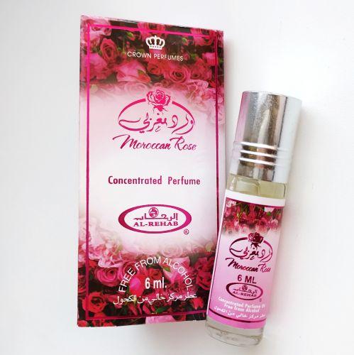 Арабские масляные духи Moroccan Rose | Марокканская роза | 6 мл | Al-Rehab | Унисекс