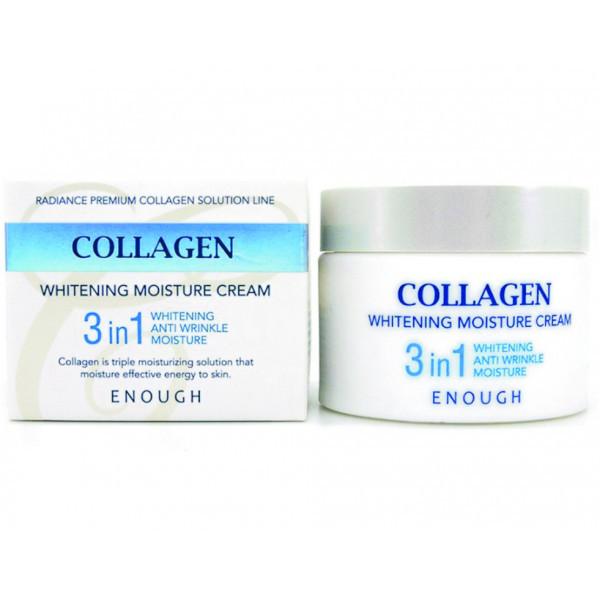 Крем осветляющий с коллагеном Enough Collagen 3 In 1 Cream