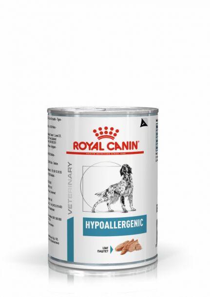 Консервы ROYAL CANIN HYPOALLERGENIC диета для собак при аллергии 400гр