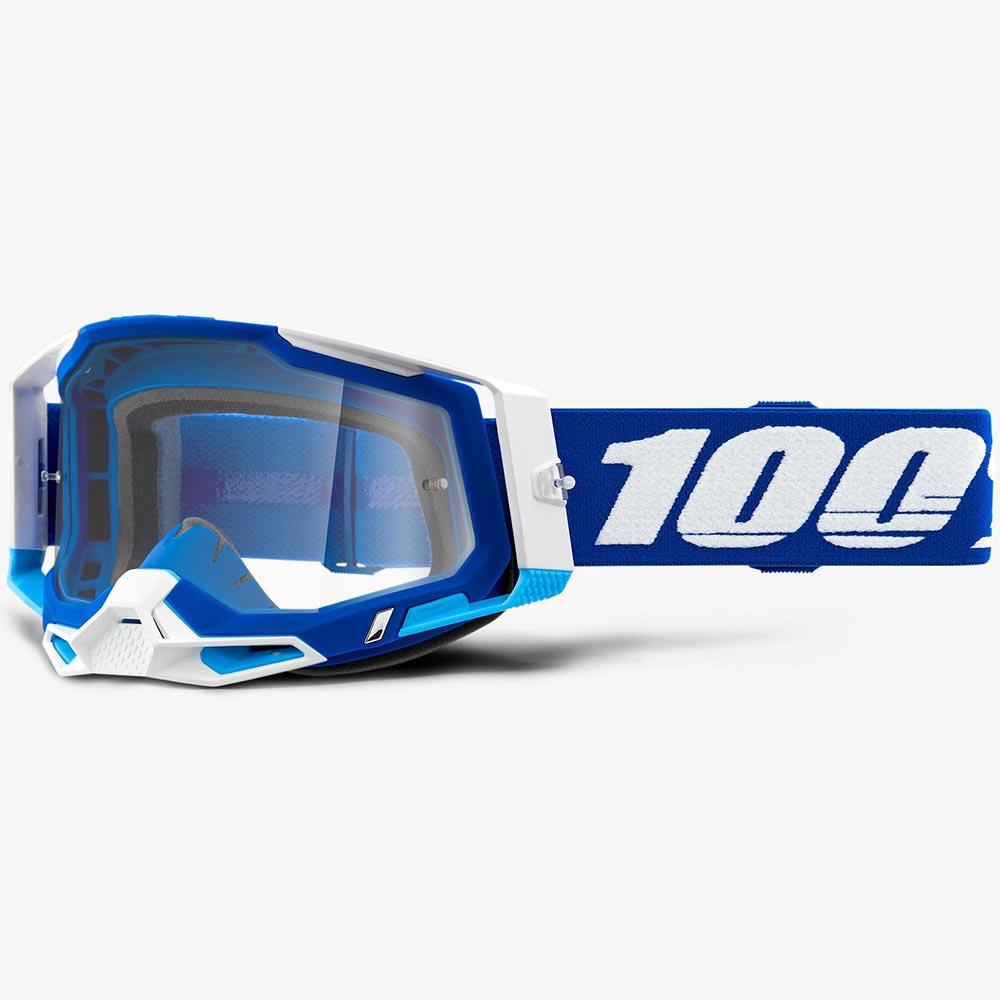 100% Racecraft 2 Blue Clear Lens, очки