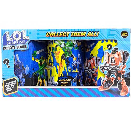 Набор трансформеров LOL Surprise Robots Series, 3 шт