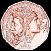Двуликий Янус (Новогодняя монета) 5 евро Австрия 2020
