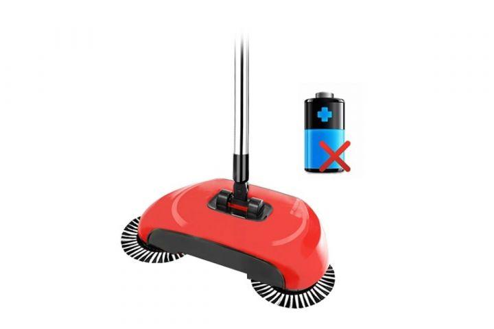 Механический веник Sweep drag all in one Rotating 360 (Красный)