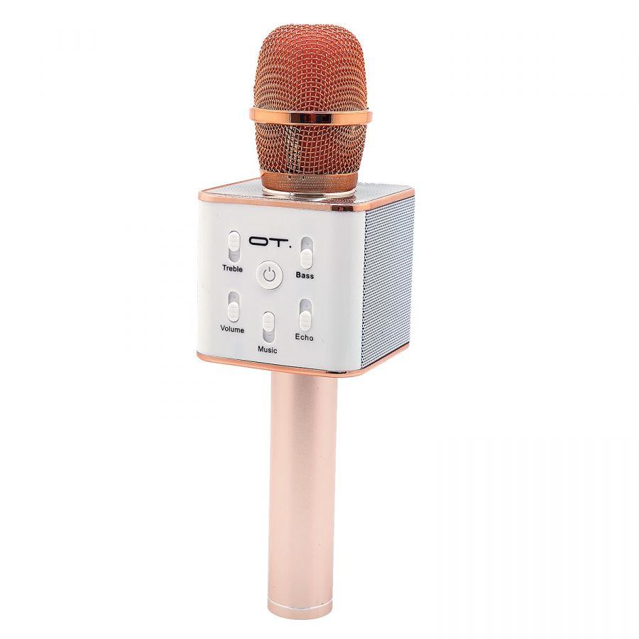 Орбита OT-ERM04 Розовый микрофон (Bluetooth, динамики, USB)