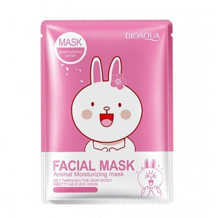 Тканевая маска Bioaqua Facial Mask Animal-Зайка