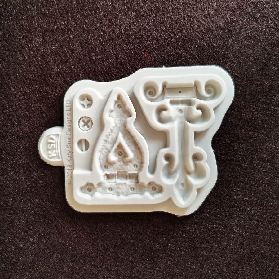 Молд силиконовый, винтажные петли, 80*90 мм