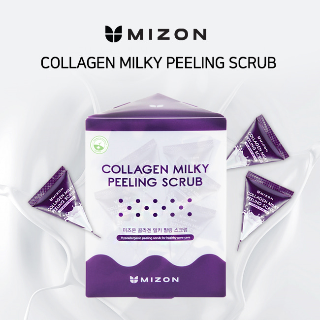 Пиллинг-скраб молочный MIZON Collagen Milky Peeling Scrub  7 гр