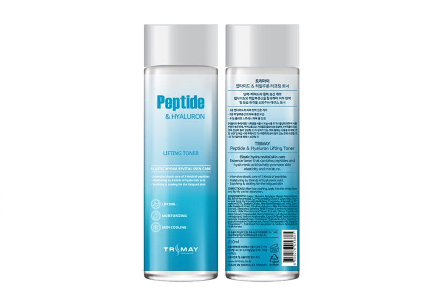 Тонер с пептидами TRIMAY Peptide & Hyaluron Lifting Toner, 200 мл