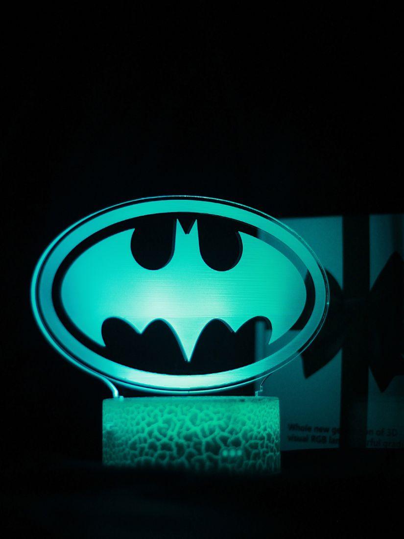 Светодиодный ночник PALMEXX 3D светильник LED RGB 7 цветов (бэтман)