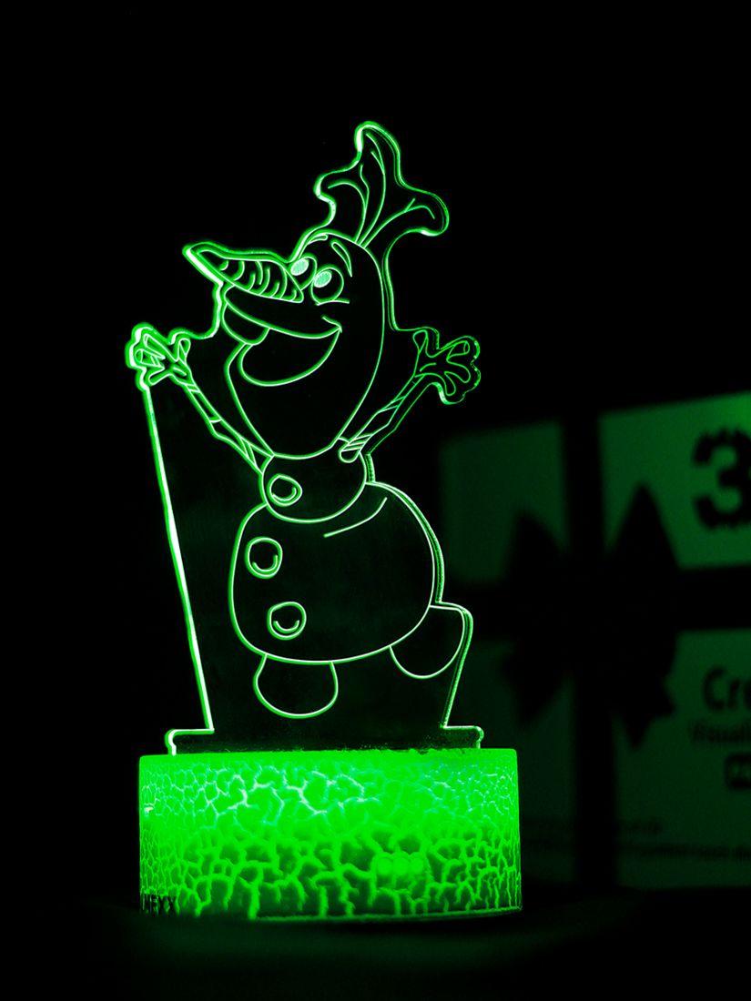 Светодиодный ночник PALMEXX 3D светильник LED RGB 7 цветов (снеговик олаф)