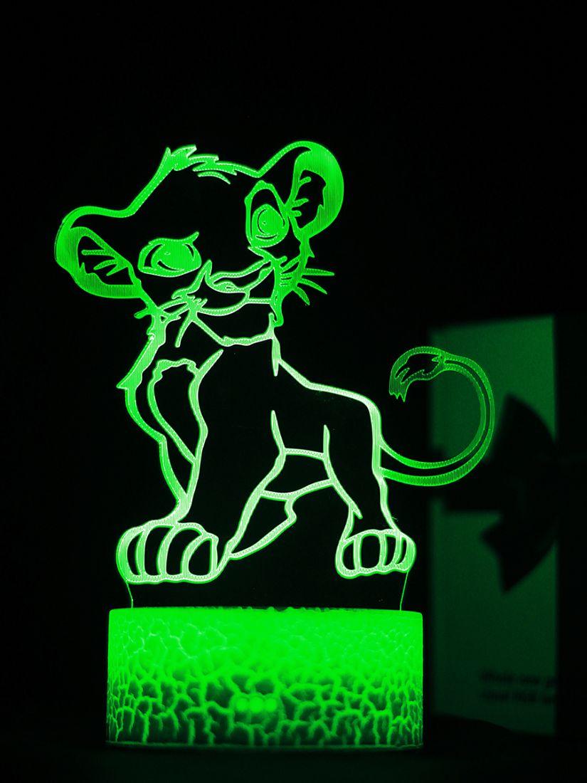 Светодиодный ночник PALMEXX 3D светильник LED RGB 7 цветов (симба)