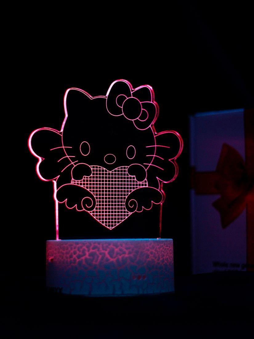 Светодиодный ночник PALMEXX 3D светильник LED RGB 7 цветов (хелло китти)