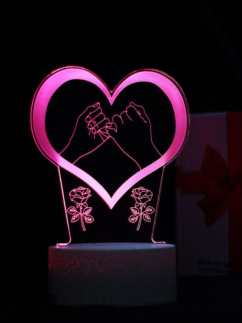 Светодиодный ночник PALMEXX 3D светильник LED RGB 7 цветов (сердце)