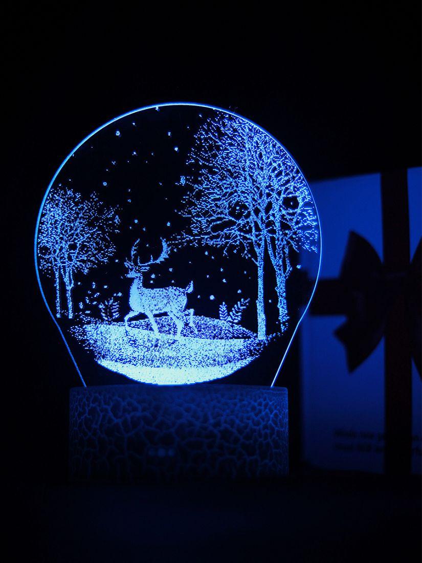 Светодиодный ночник PALMEXX 3D светильник LED RGB 7 цветов (олень в ночном лесу)